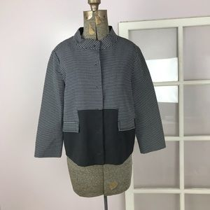 Magaschoni black&white checker pattern blazer